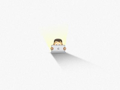 Geek icon computer icon icons icon design geek character apple mac macbook mbp macbook pro
