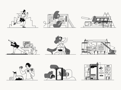 Whoooa! illustrations free update hands cat workout pandemic people characters illustration design illustrations pack illustration set illustrations illustration whoooa