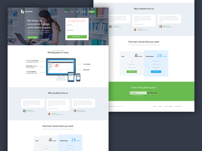 BF - Landing Page ui ux landing page pricing pricing table app home page website flat