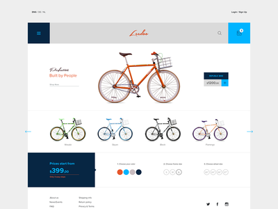 E-commerce theme ecommerce e-commerce shop website webdesign ui uidesign bike theme flat checkout cart