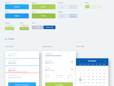 Style Guide guidelines travel holiday ui design grid palette material design material design ui guide style guide