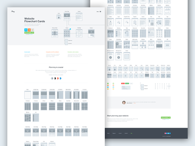 Flowy planning user flow website ui landing page workflow wireframe flowchart sitemap ux sketch app sketch