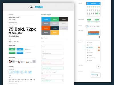 UI Style Guide ui guide ui guide color palette guidelines ui elements interface colors style guide web