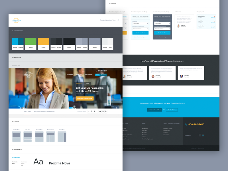 UI Guide colors palette passport guidelines web style ui guide ui style guide interface style guide colors ui elements