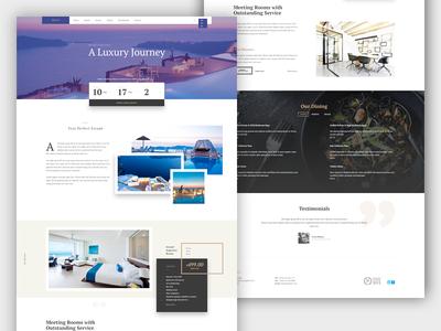Hijiri - Hotel template material design luxury landing home page holiday landing page website ui booking testimonials hotel