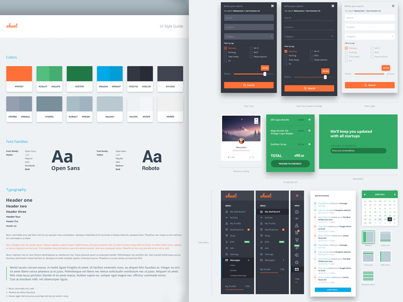 UI Style Guide by Greg Dlubacz for Templatly on Dribbble