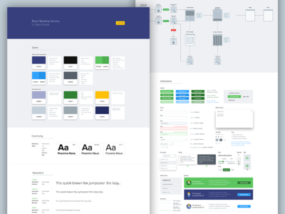 UI Style Guide ui design typography ui elements colors palette guidelines user flow sitemap ui guide ui style guide guide ui