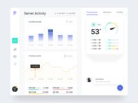 Server monitoring app for iPad [white version]