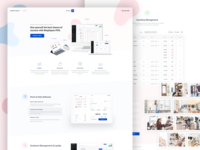 Landing POS + 1 dribbble invite