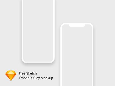 iPhone X Clay Mockup Freebie dark sketch freebie free mockup clay iphone mockup iphone iphone x iphonex