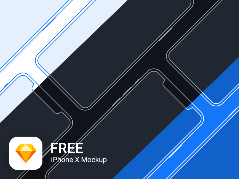 Download iPhone X Mockup Freebie for Sketch