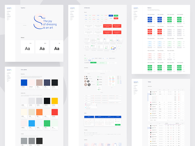 UI Style Guide pos point of sale graph stats guidelines colors palette ui elements style guide guide ui style guide ui guide design system