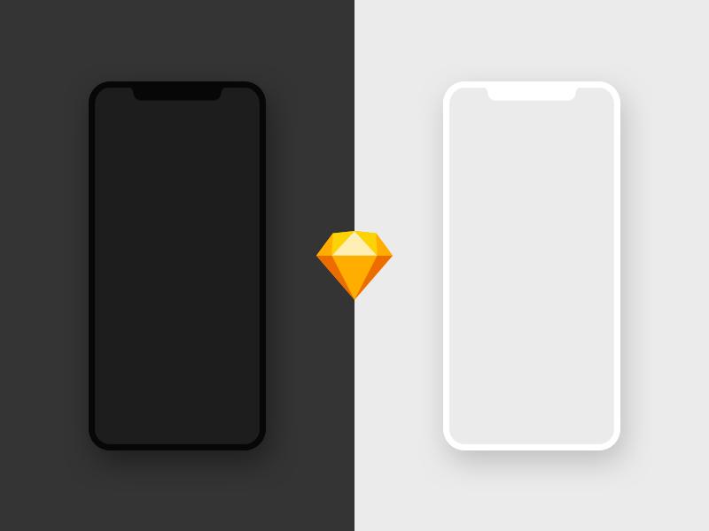 Free iPhone X Mockup – Sketch