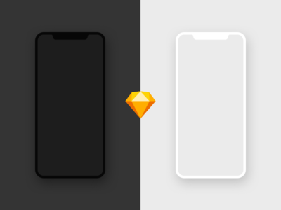 Free iPhone X Mockup - Sketch