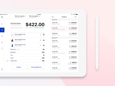 Exchange/Refund view + 1 Dribbble invite giveaway invitation checkout invite ipad ipad app ecommerce cart payment pos point of sale