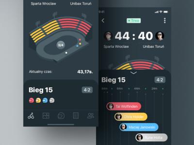 Speedway iOS app dribbble giveaway invite arena stadium iphone x app iphone app iphone ios zuzel speedway