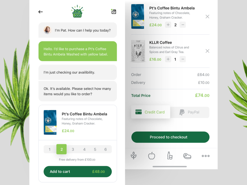 Grocery iOS app shopping ecommerce shop ui design nature green local grocery mobile ios app