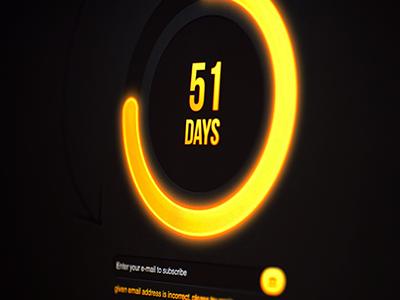 Circle Countdown Timer Yellow circle countdown timer under construction ui template yellow dark jquery html5