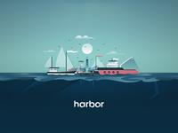 Harbor Illustration