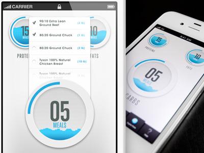 FoodSimple Menu nutrition food iphone app ios clean app simple iphone menu