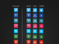 Handsome social icons