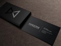Handsome business card mock up