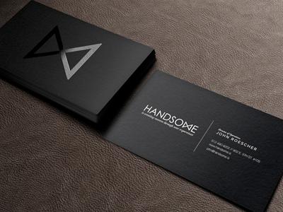 Handsome Cards Mock Up Business Branding Pixeden Flat Black Bowtie