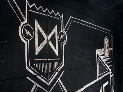 Chalk Wall Illustration handsome design lettering freehand atpc chalk illustration type nathan walker