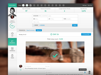 Progress View app user profile application layout profile user web user experience ui user interface interface handsome ux web app dashboard