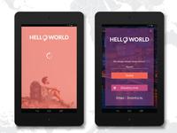 Hello World - web app for post-tourists