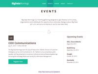 Big Data Mornings Events Redesign
