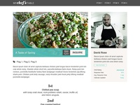 My Chef's Table Website Design - Menu Detail Page