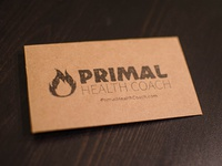 Primal Health Coach Business Cards