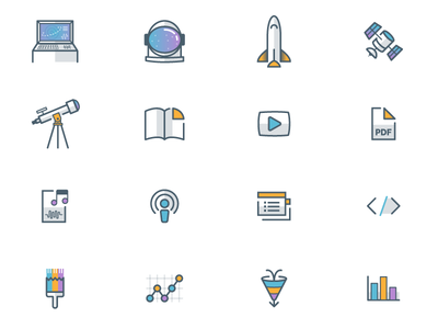 Space Themed Icons