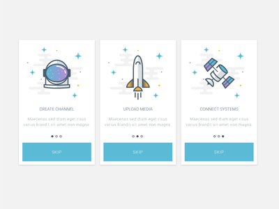 Space Themed Onboarding