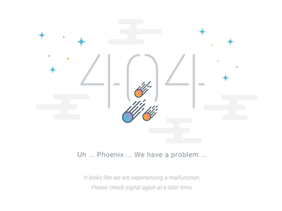 Space Themed 404 404 space