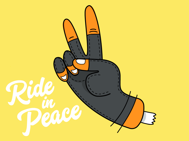 Ride In Peace illustration hand peace
