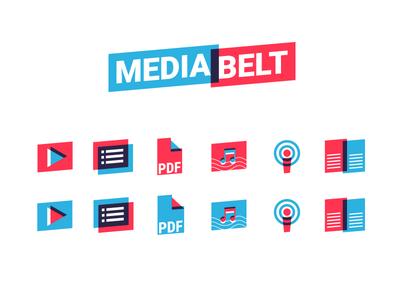 Mediabelt Tilt Design icons mediabelt logo