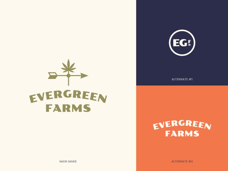 Evergreen Farms - Rejected ID brand identity cultivator cannabis marijuana logo