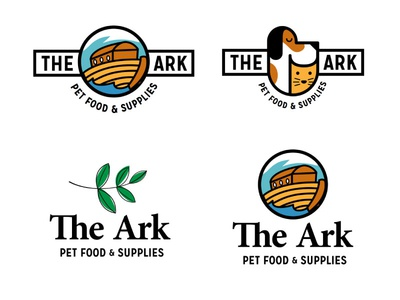 The Ark Logo Concepts ark brand pets cat dog animals logo