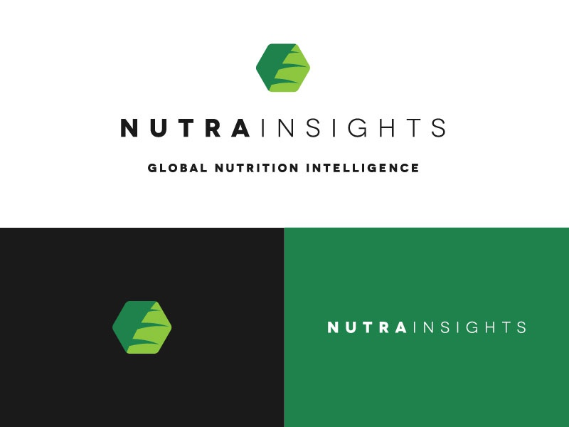 Nutrainsights nutrition hexagon plant logo