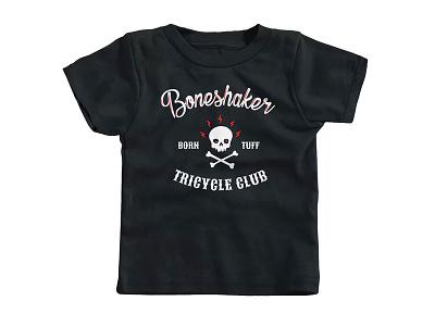 Boneshaker Shirt cotton bureau club motorcycle tricycle crossbones skull boneshaker kids shirt
