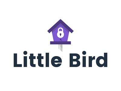Little Bird identity icon lock safety house bird house logo branding