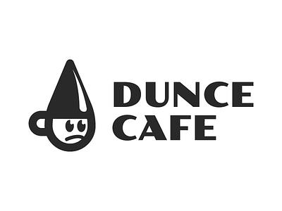 Dunce Cafe retro cafe coffee logo