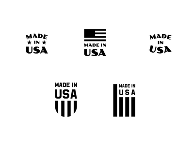 Made In USA Mark icon typography logo