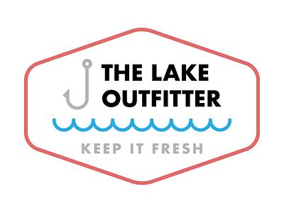 The Lake Outfitter strokes logo branding