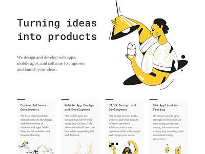 Dev Shop Landing Page web design