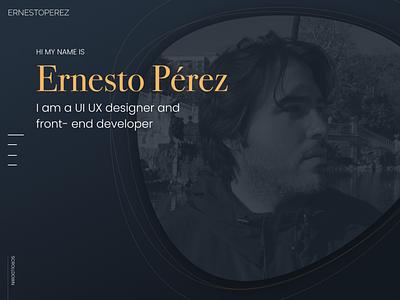 Mi new web www.ernesto-perez.com web icon typography logo branding android mobile dashboard ios ux ui portfolio design