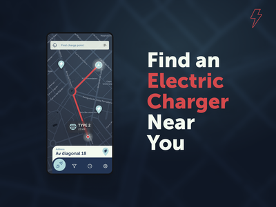 Ev charger finder app android car automotive ux web dashboard mobile ui ios app