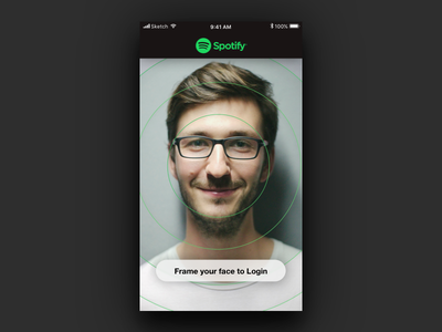 Face Recognition Login app ios login recognition face spotify